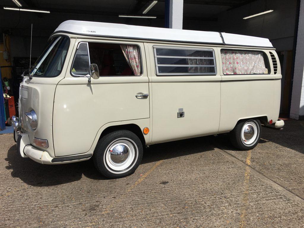 1969 VW Camper in for an MOT